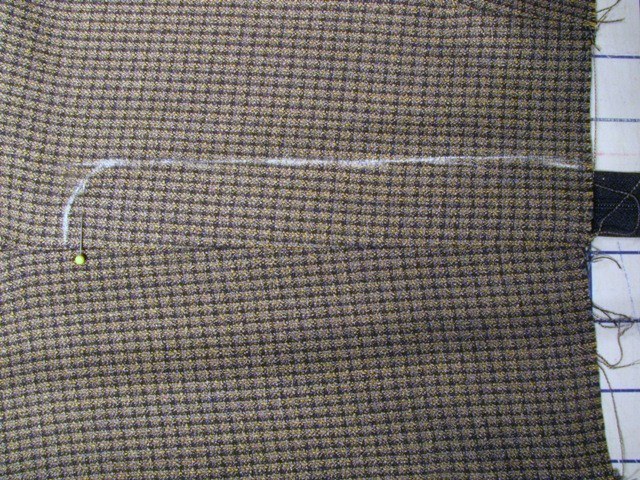 mark stitching line