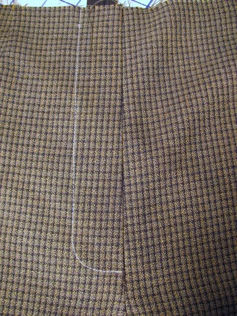 sew final stitching line