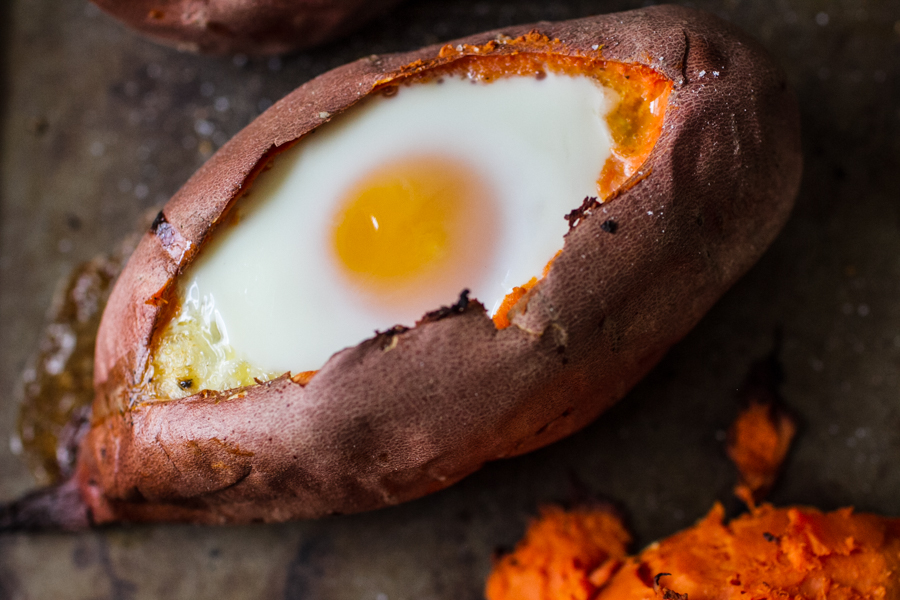 Baked Sweet Potato Egg Boats