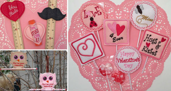 In the hoop valentine machine embroidery designs