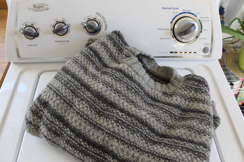 Machine washing knits