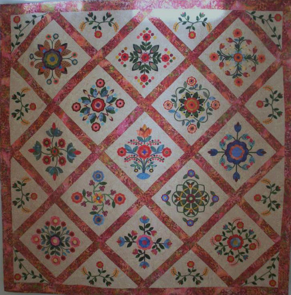 Rose of Sharon Quilt: Roses of Remembrance.