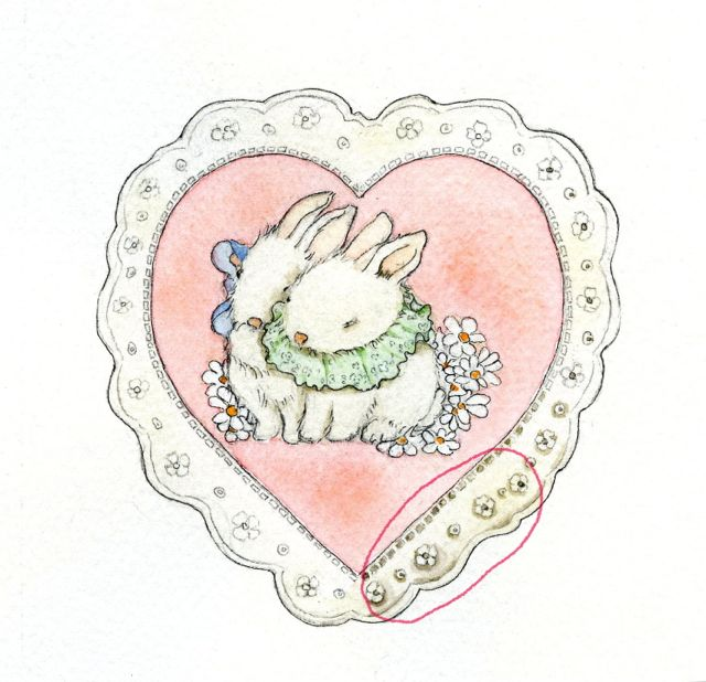 painted lace heart