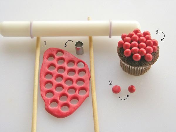 Pie cupcake tutorial step 1