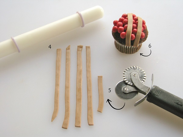 Pie cupcake tutorial step 2