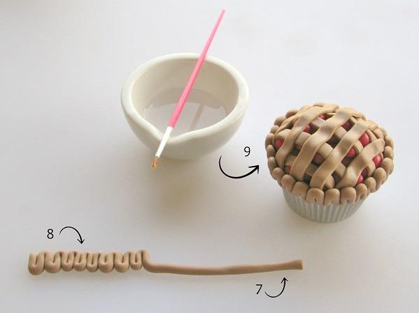 Pie cupcake tutorial step 3
