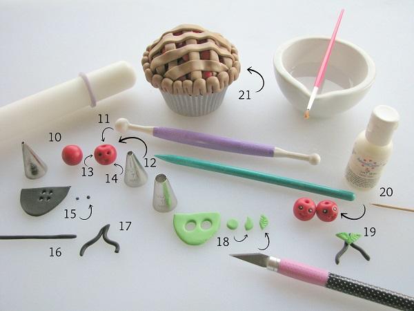 Pie cupcake tutorial step 4