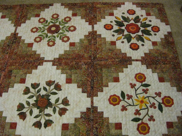 Rose of Sharon in the Cabin quilt.