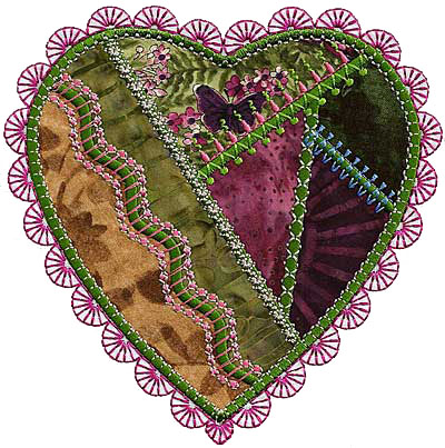 Molly Mine crazy patch heart 14.
