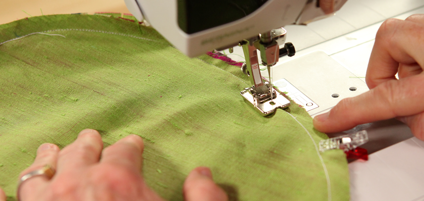 Sewing stylish pillows