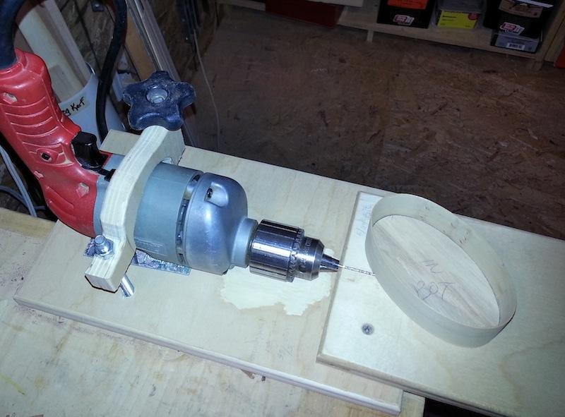 Shaker jig in use