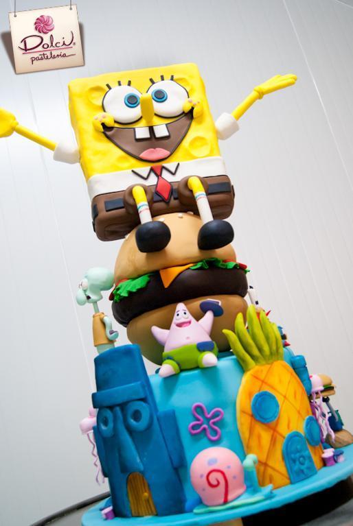 Spongebob 3-D cake