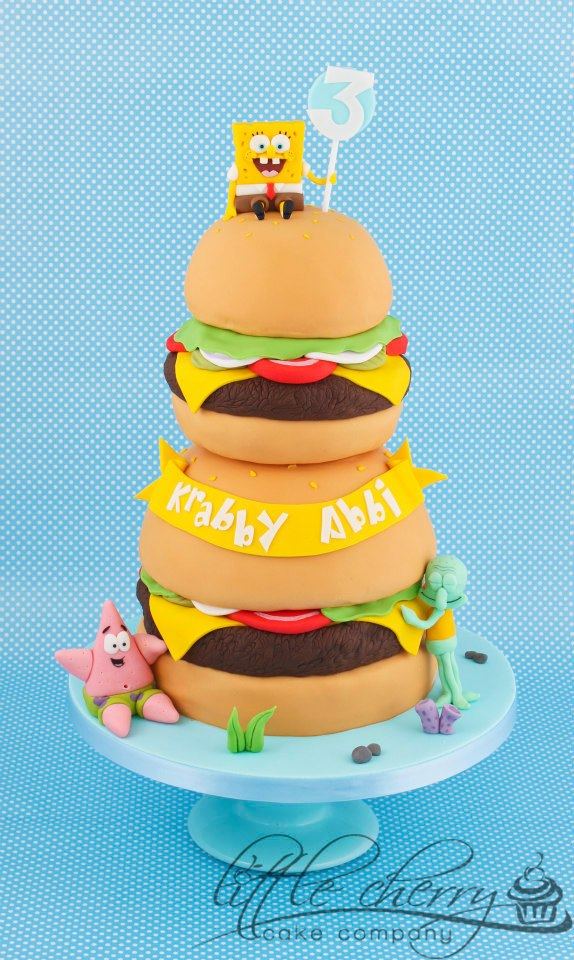 Spongebob Hamburger cake