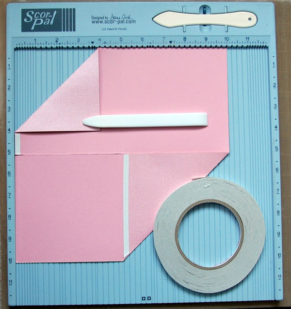 Step-8-Apply adhesive below folded corner