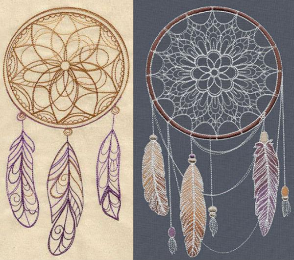 Urban Threads dream catcher embroidery designs.
