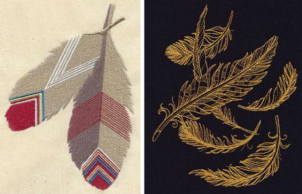 UT metallic feather