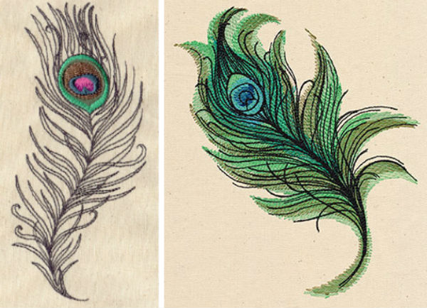 Urban Threads peacock feather embroidery designs.