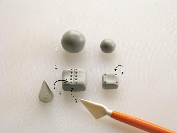 Valentine robot fondant tutorial step 1