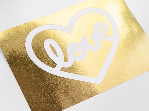 "Gold Foil ""Love"" Card"