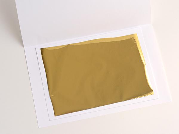 DIY gold foil printing
