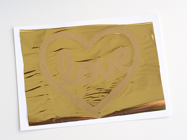 Making a Gold Foil Valentine Card