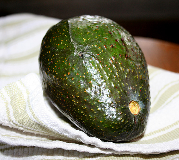 Avocado before slicing