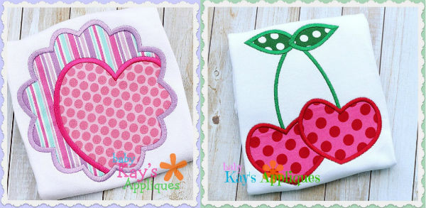 Valentine applique machine embroidery designs.
