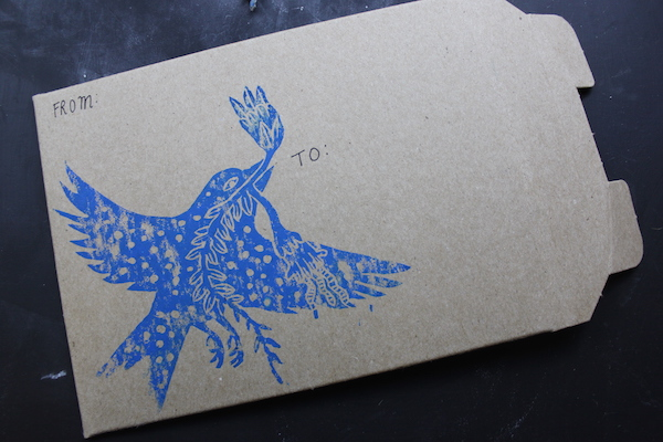 Bird stamp on an envelope
