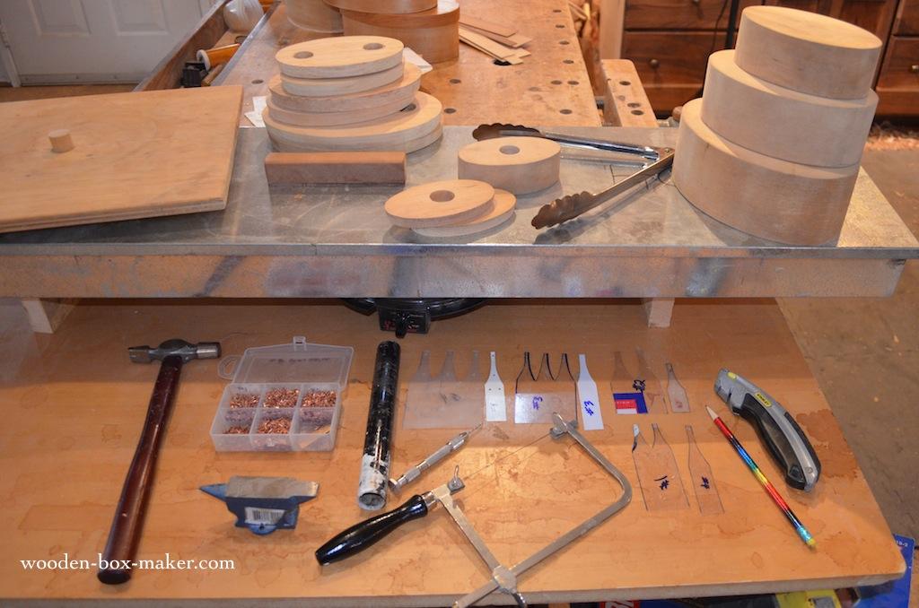 Shaker box making supplies