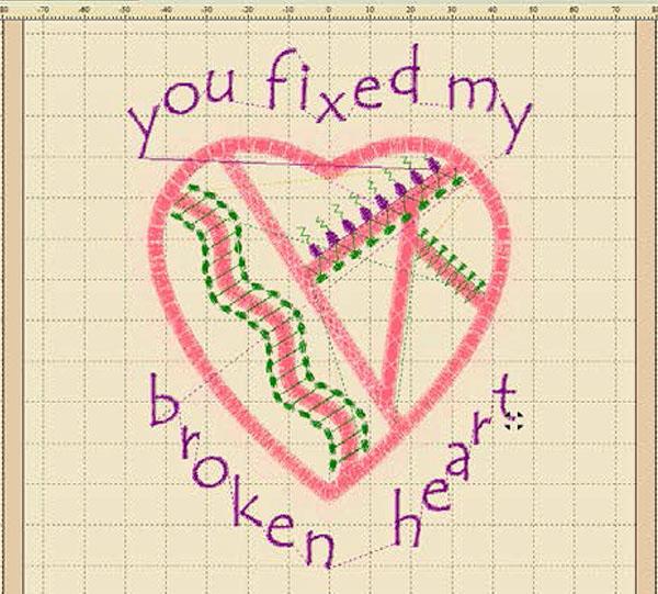 Calligraphy Project Designer broken heart project.