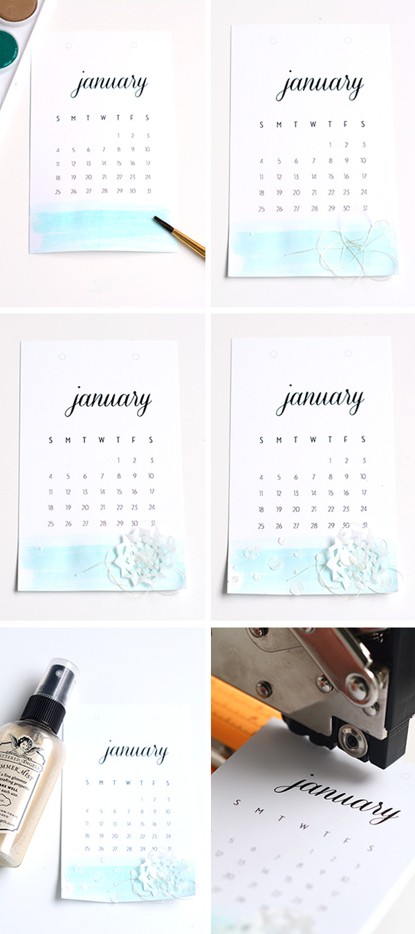 Making a Memory Calendar
