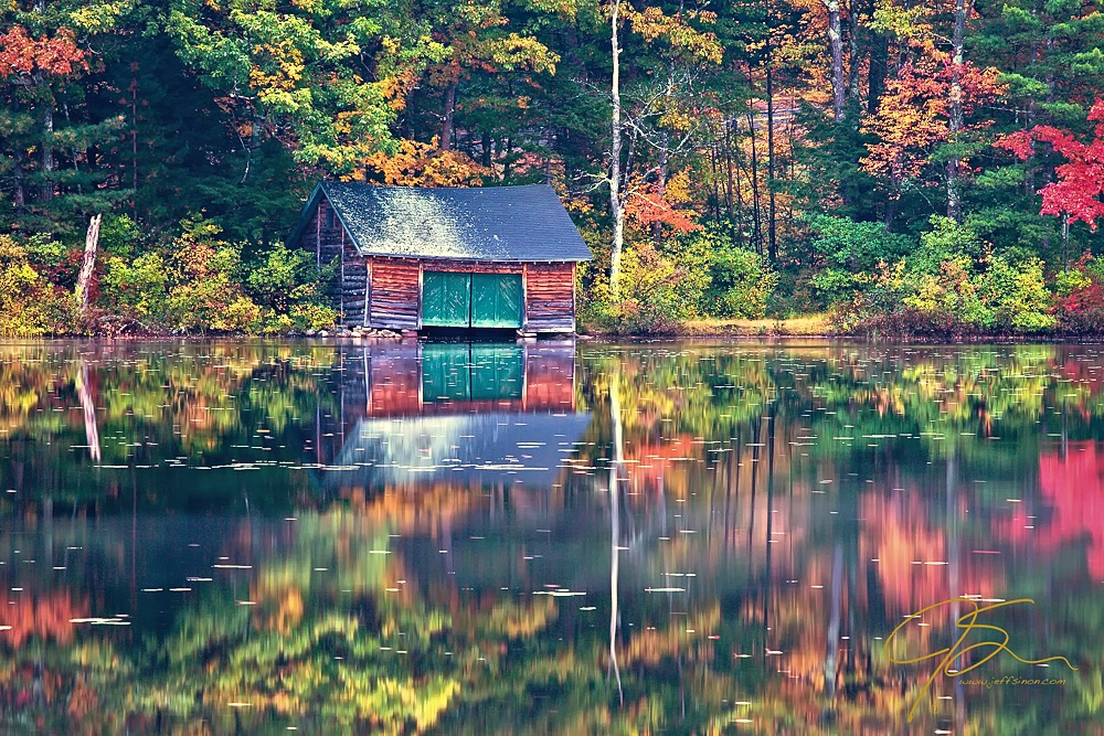 Boat House On Little Lake