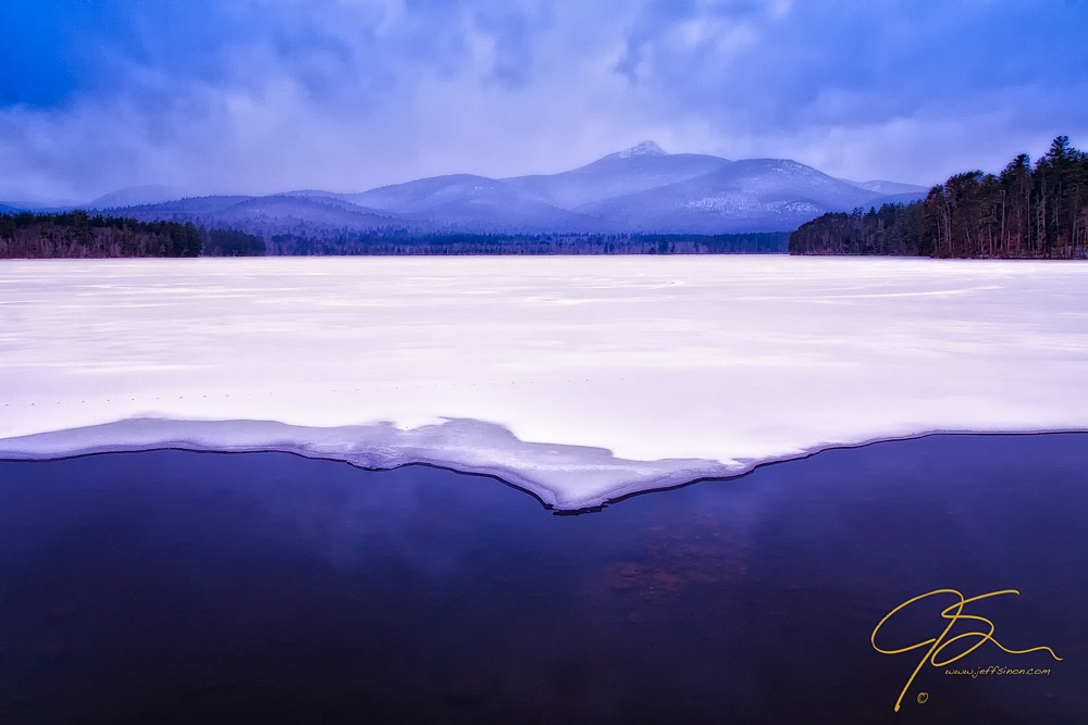 Chocorua Reflected In Ice And Snow