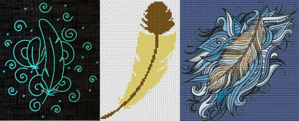 Craftsy feather embroidery designs.