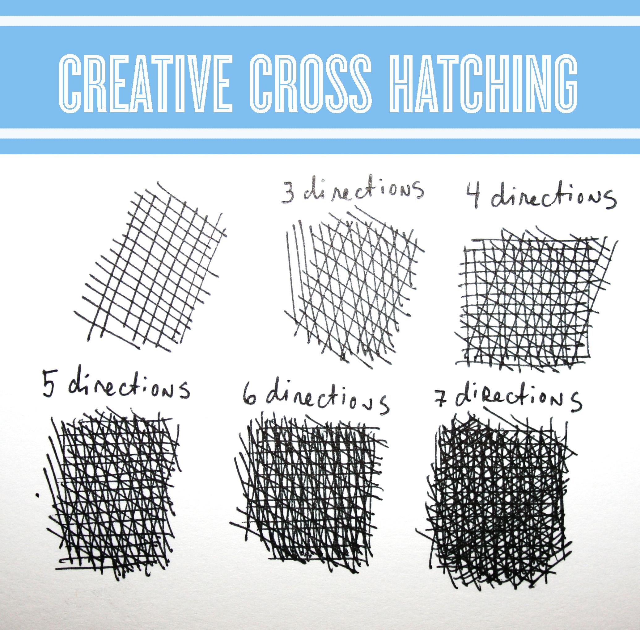 Creative cross hatching