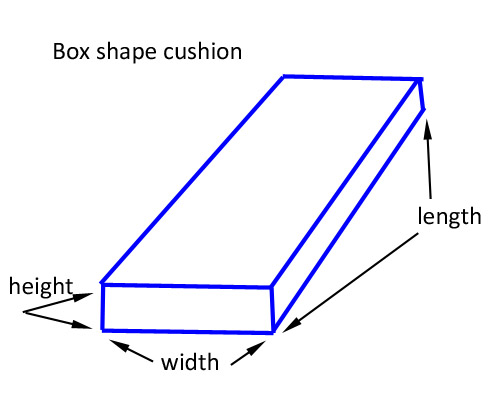 diagram rectangle pillow