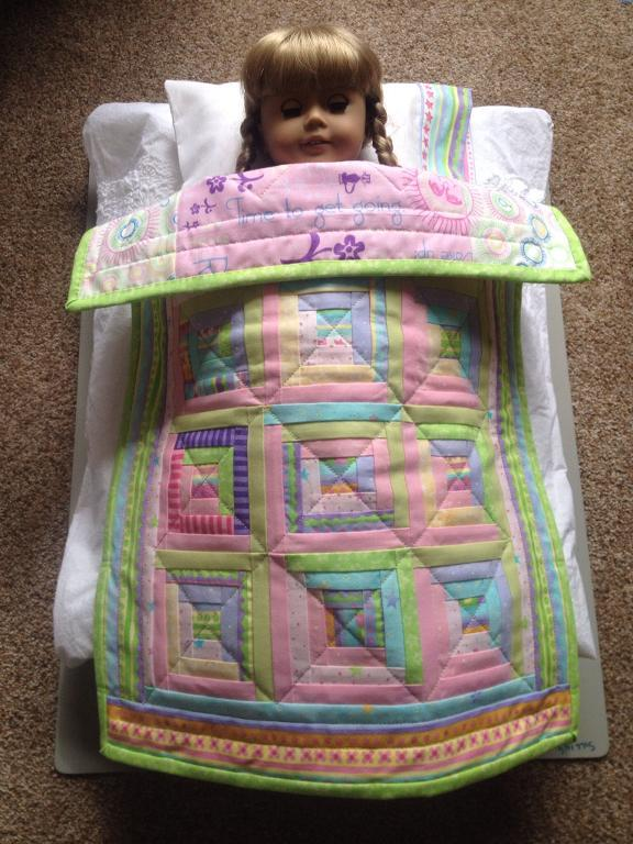 log cabin doll quilt