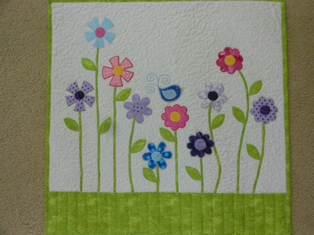 applique doll quilt