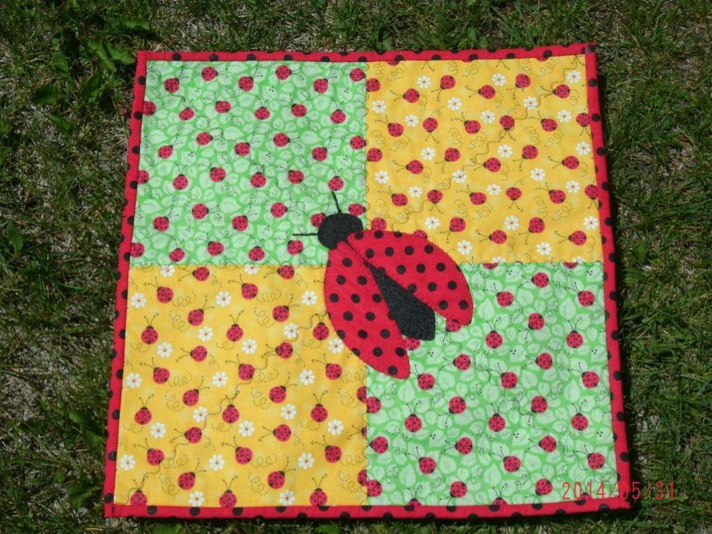 ladybug doll quilt