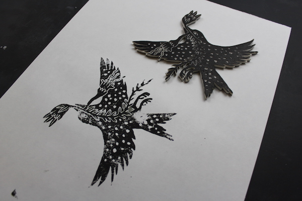 Bird stamp - example 1