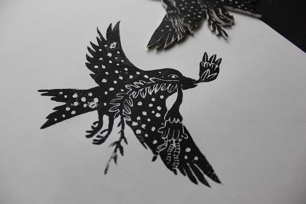 Bird stamp - example 2