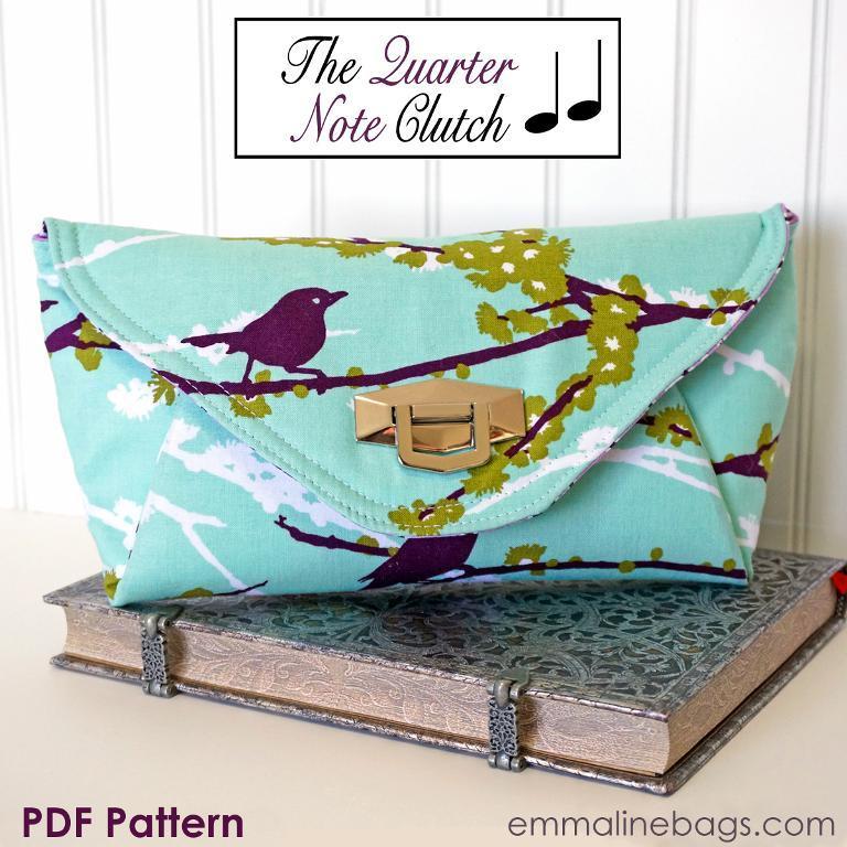Quarter Note Clutch sewing pattern