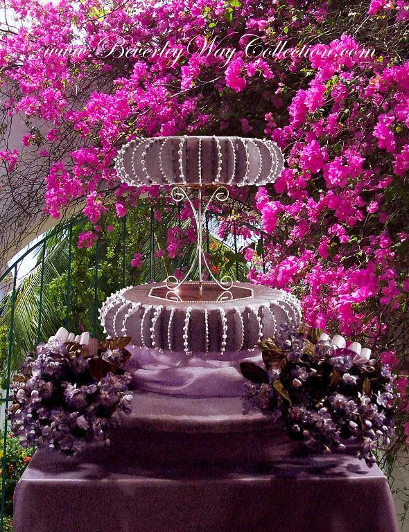 Lavender bead luster cake