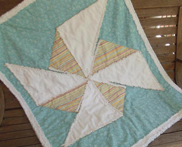 Playful Pinwheel Childs Quilt