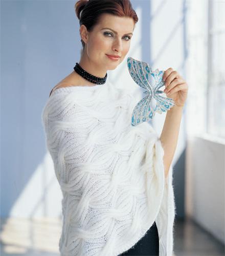 Lily Chin's Cabled-Rib Shawl knitting pattern