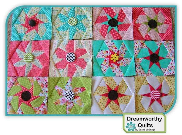 Pinwheel Flowers Quilters Garden Row 4