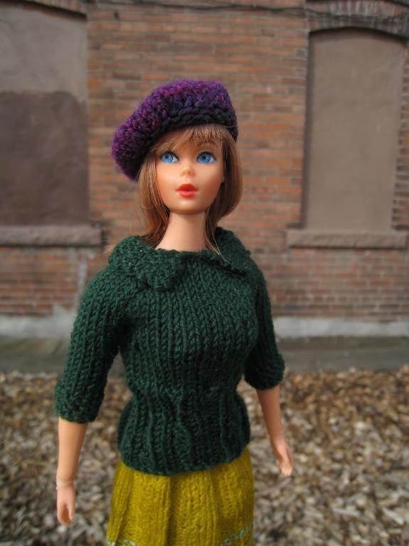 Barbie Doll Sweater with Collar