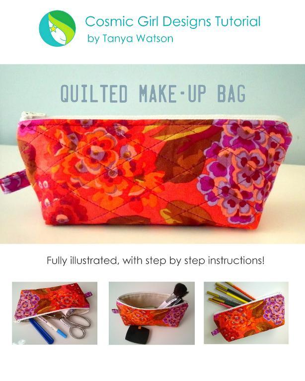 Quilted Make Up Bag pattern