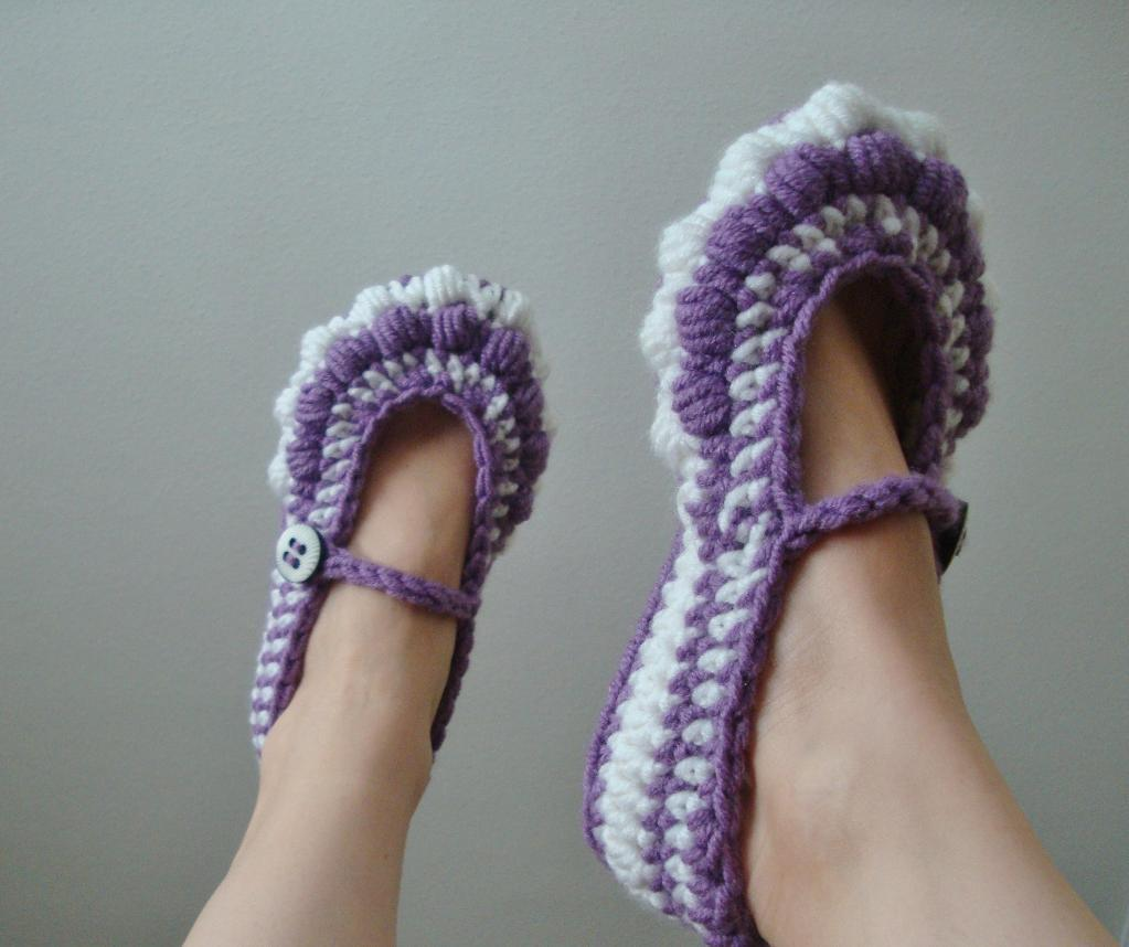 Bobble Ballet Slippers crochet pattern