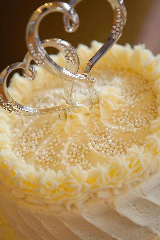 Beads on a wedding cake